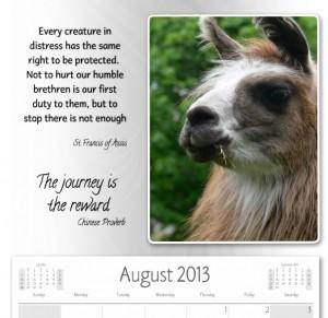 lama picture calendar, free download